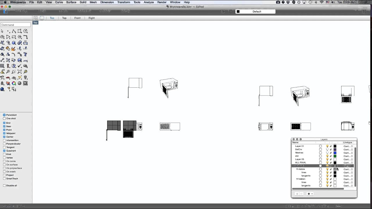 Easy 2d Drawings for Beginners Make 2d Technical Drawings In Rhinoceros to Export as An Illustrator