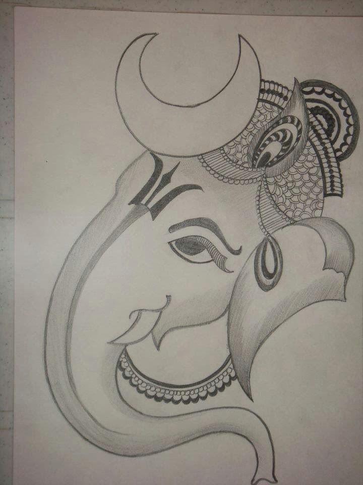 Easy Drawing Vinayagar Lord Ganesha Drawing Google Search Creativity Penci