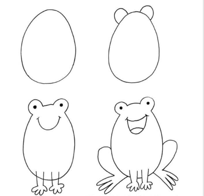 Easy Drawings and Paintings Pin by Virginie Haemmerli On Kids Corner Arts Crafts Drawings