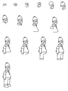 Easy Drawings Homer Simpson 14 Best Final Project Images Simpsons Drawings Homer Simpson