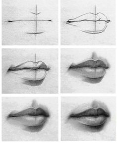 Easy Drawings Lips 88 Best Drawings Of Lips Images Drawing Faces Drawing Techniques