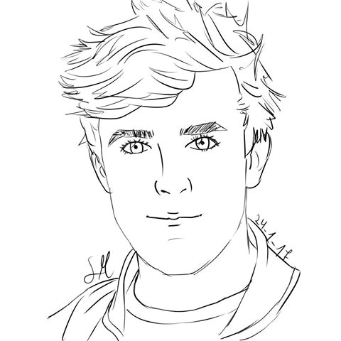 Easy Drawings Of Jake Paul Coloring Pages Jake Paul Great Free Clipart Silhouette Coloring
