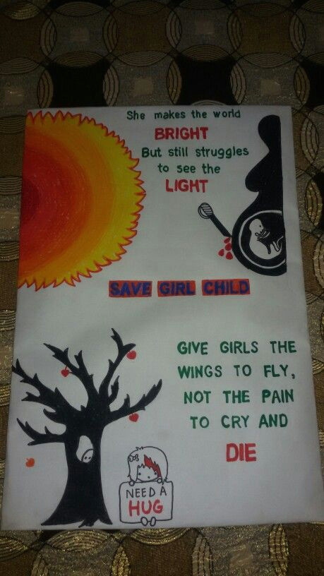 Easy Drawings with Poster Colours Save Girl Child Handmade Posters and Crafts Pinterest Drawings