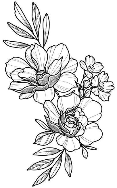 Flowers Drawing and Name Floral Tattoo Design Drawing Beautifu Simple Flowers Body Art