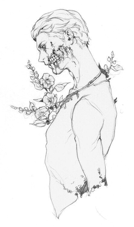 Flowers Drawing Manga Image Via We Heart It Art Black White Draw Flower Manga