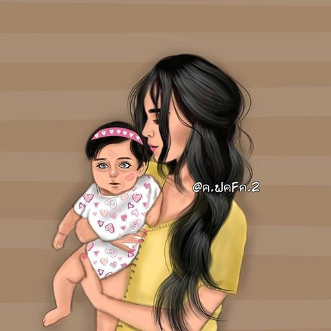 Girly_m Drawing Girly M Mother and Child Illustration Mom I Love You Girly M