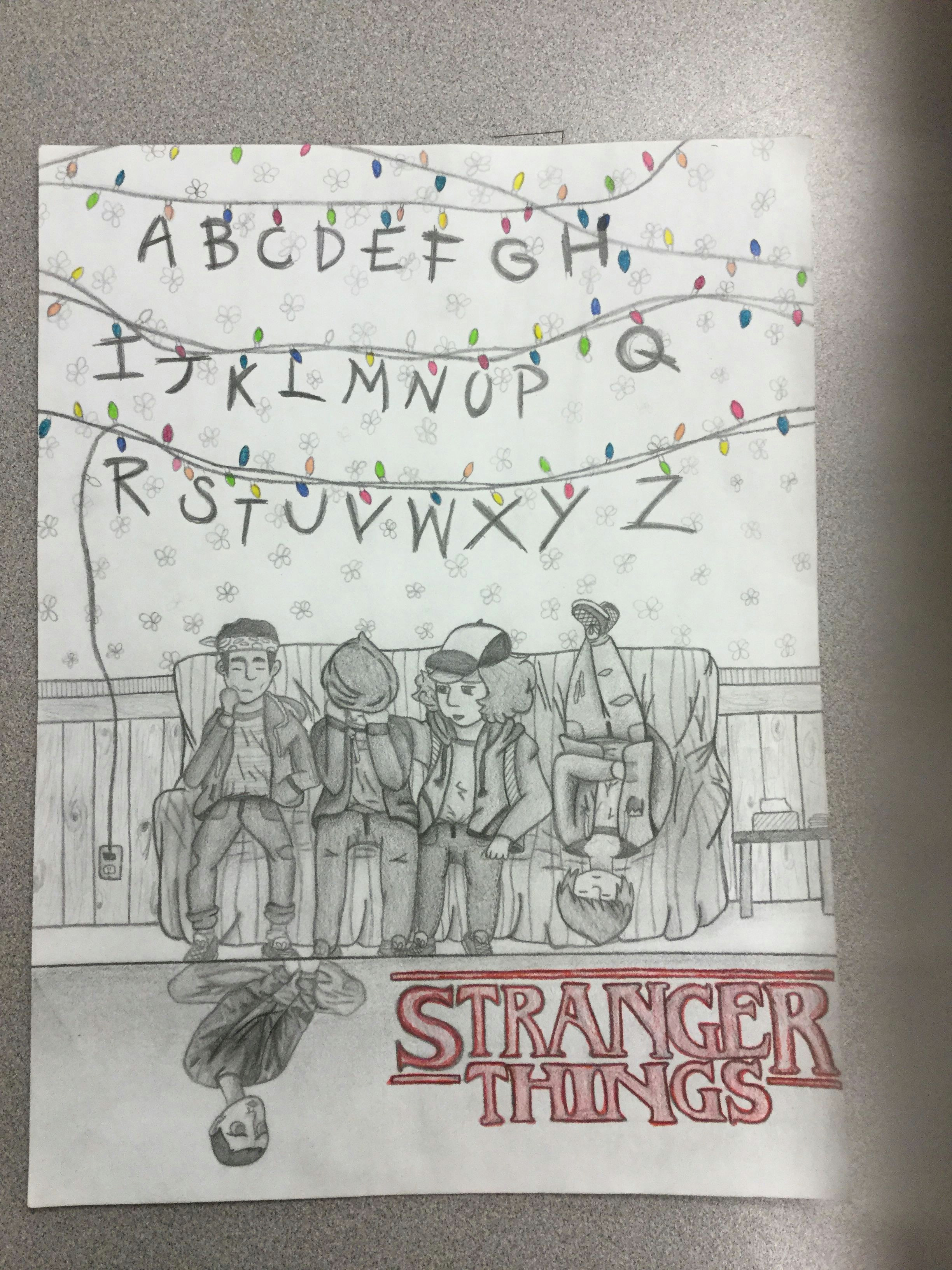 Stranger Things Drawing Pinterest My Stranger Things Drawing Don T Look at 11 Her Face is Weird