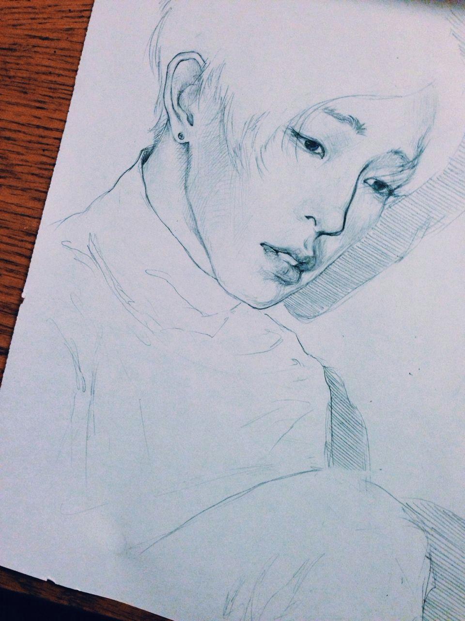 Tumblr Drawing Kpop Nam Taehyun Tumblr Art Pinterest Fan Art Kpop Fanart and