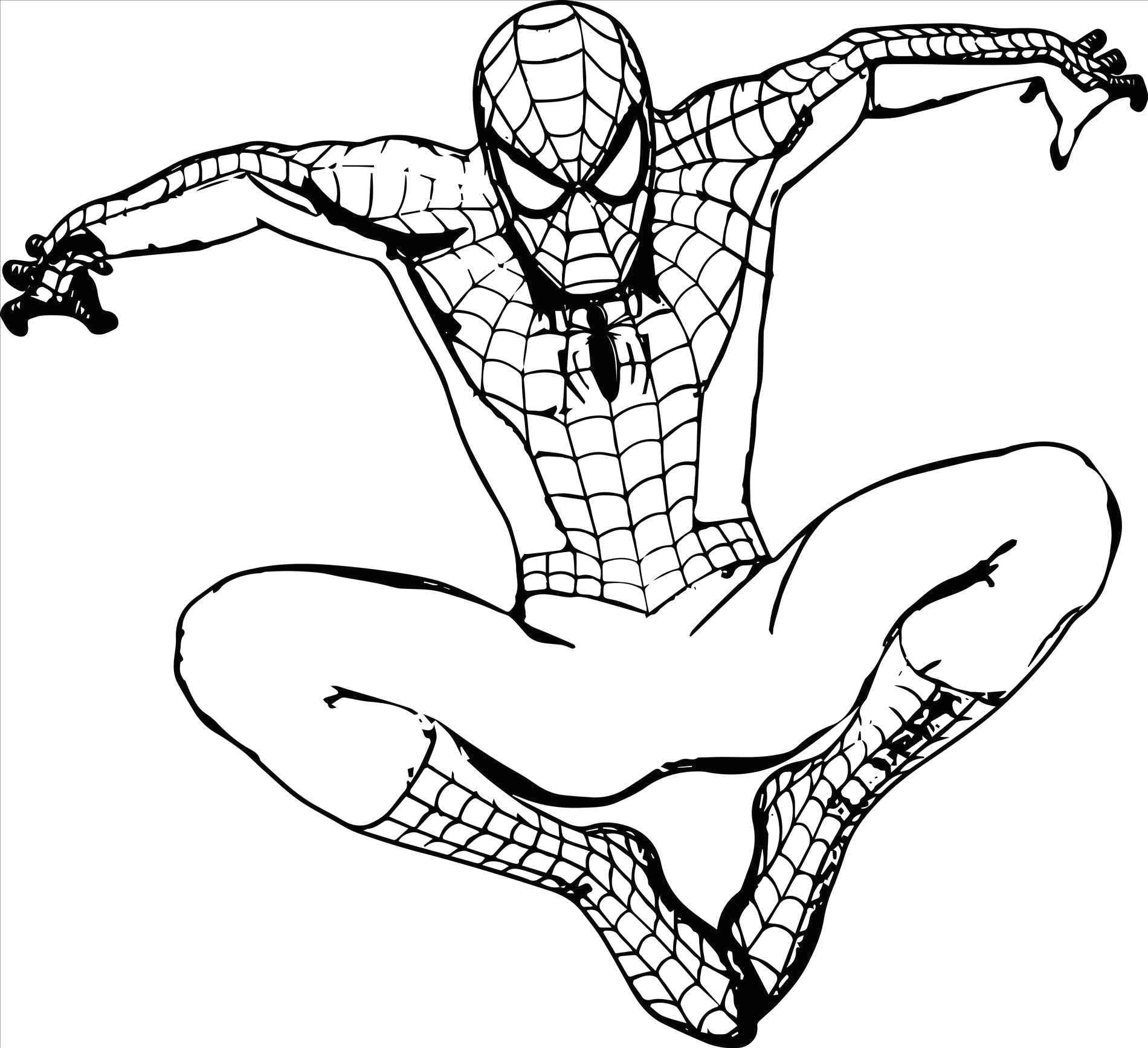 V Easy Drawing Spiderman Coloring Pages to Print Luxury Superheroes Easy to Draw