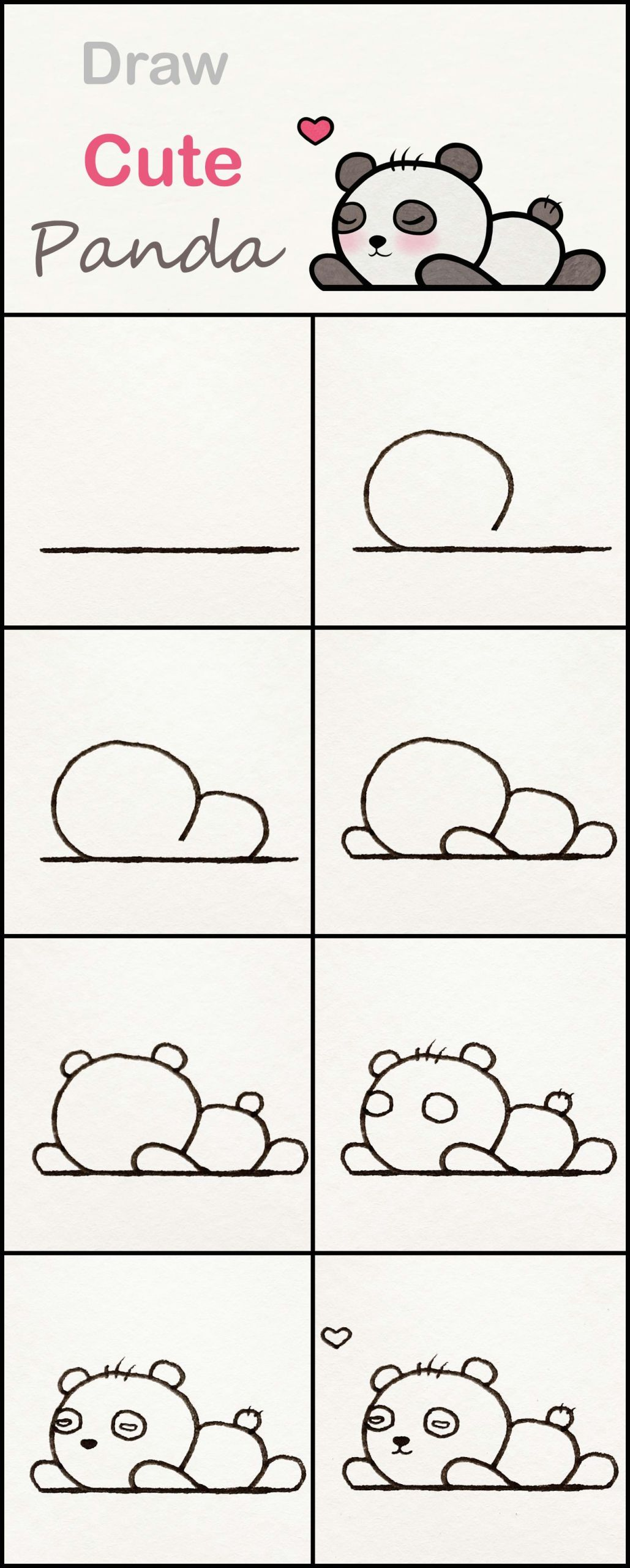 Cute Easy Things to Draw for Kids Learn How to Draw A Cute Baby Panda Step by Step A Very