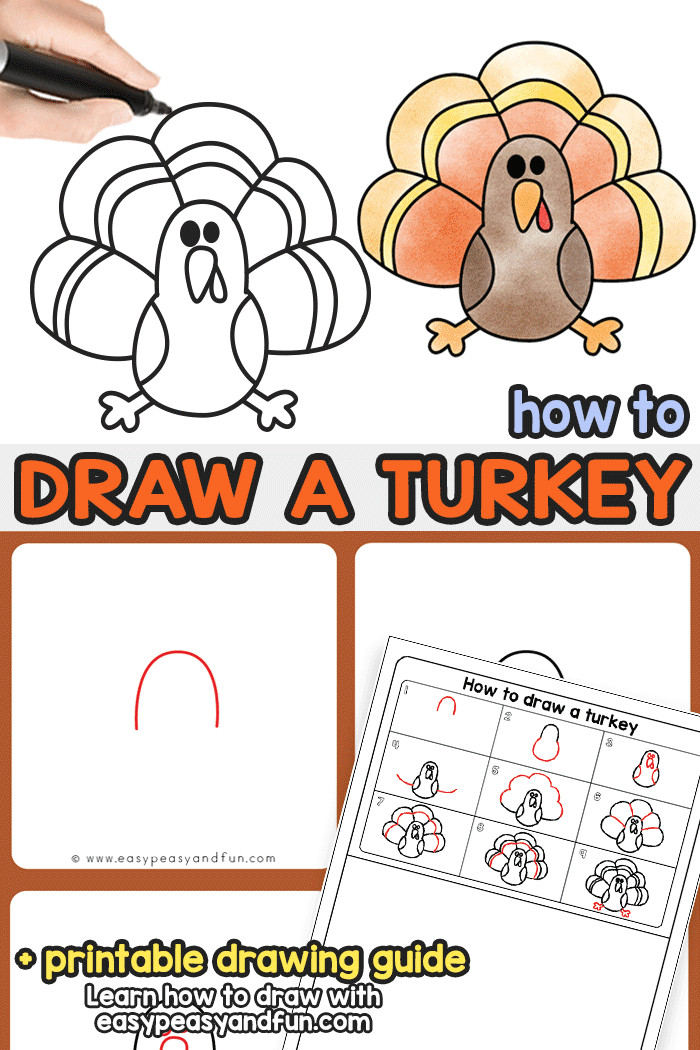 Easy Thanksgiving Drawings How to Draw A Turkey Turkey Drawing Thanksgiving Drawings