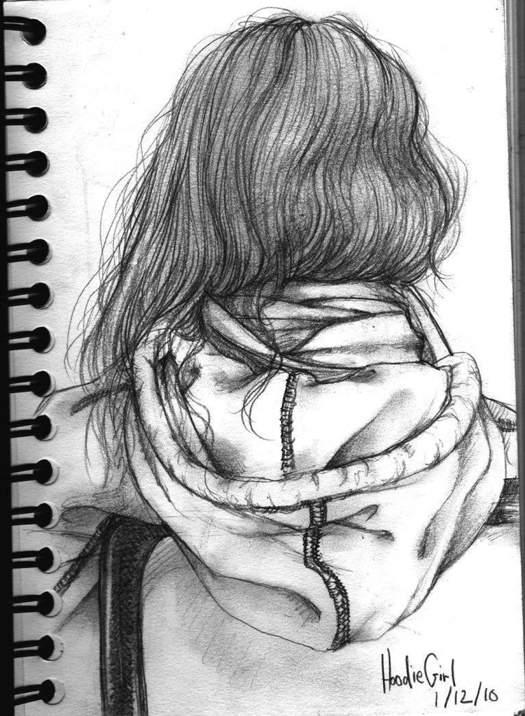 Girl In Hoodie Drawing Easy Girl In Hoodie Drawing Google Search Art Drawings