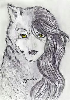 Half Human Half Animal Drawing Easy 16 Best Werewolf Drawings Images Anime Neko Anime Wolf