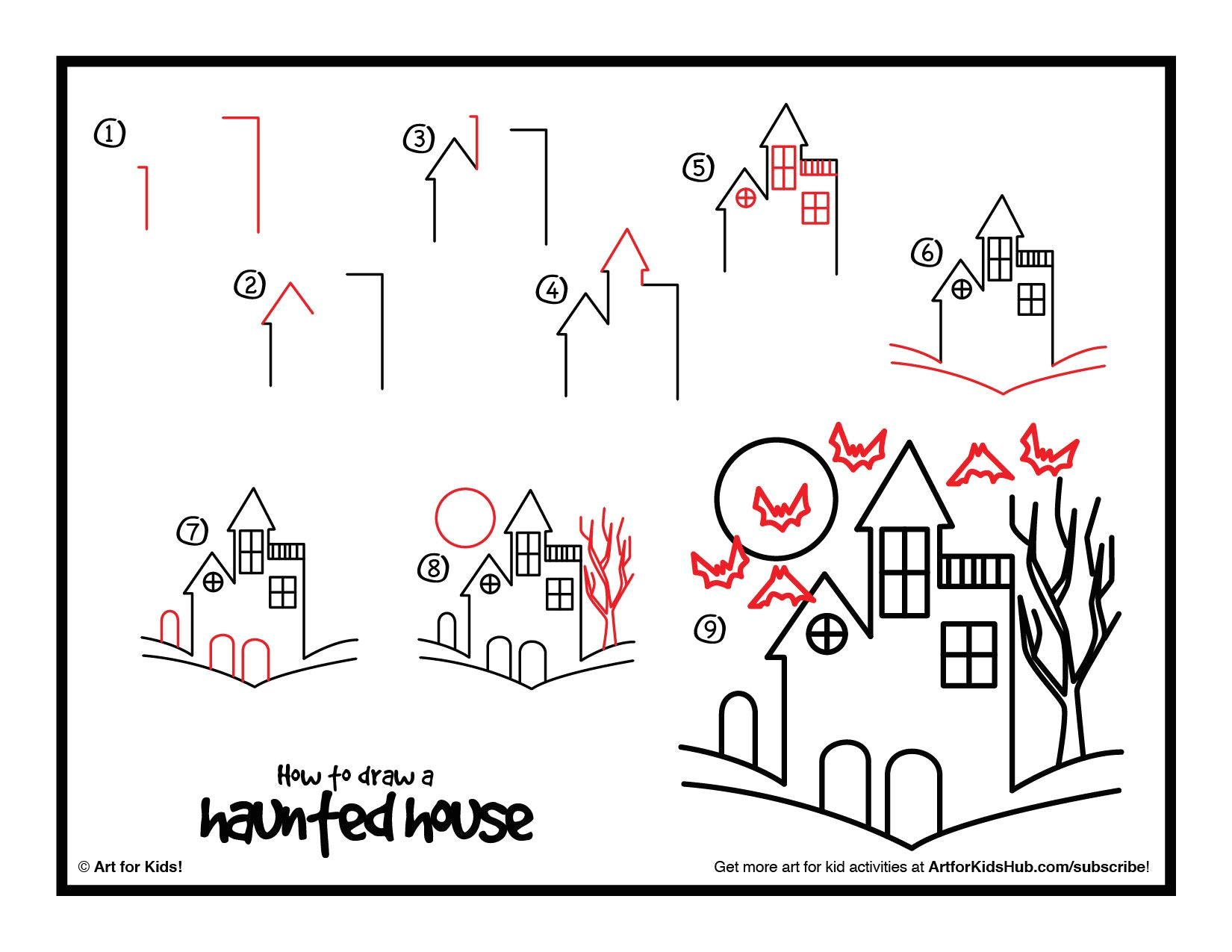 How to Draw A Haunted House Easy How to Draw A Haunted House Google Search Story Time