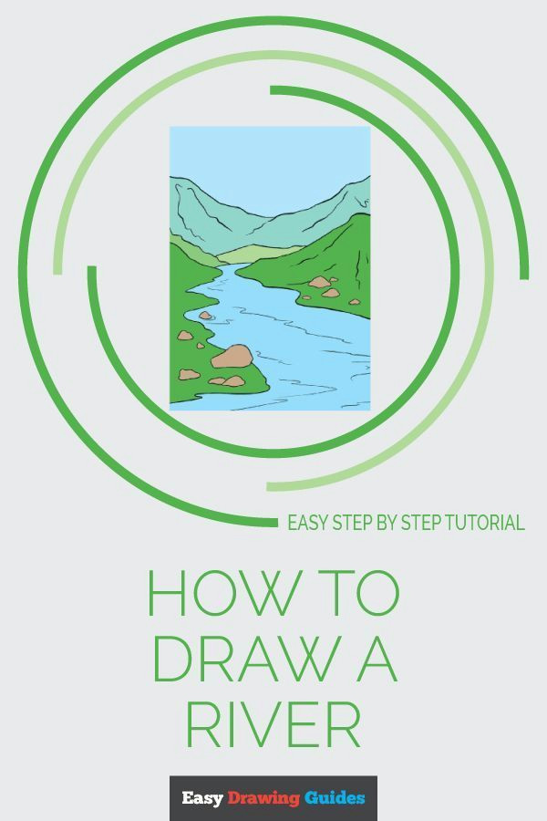 How to Draw A River Easy How to Draw A River Really Easy Drawing Tutorial Flowers