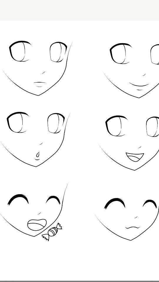 How to Draw An Easy Anime Eye Basic Anime Expressions Anime Zeichnen Zeichnen Und Manga