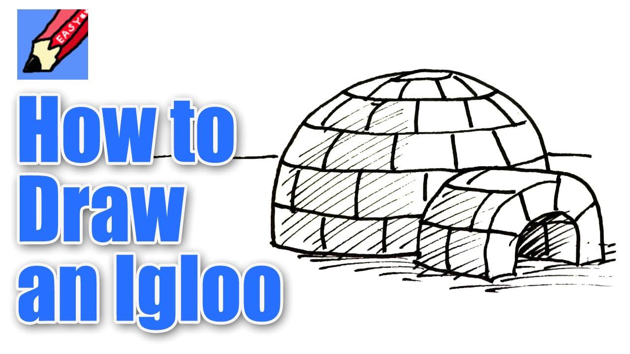 How to Draw An Igloo Easy How to Draw An Igloo Real Easy