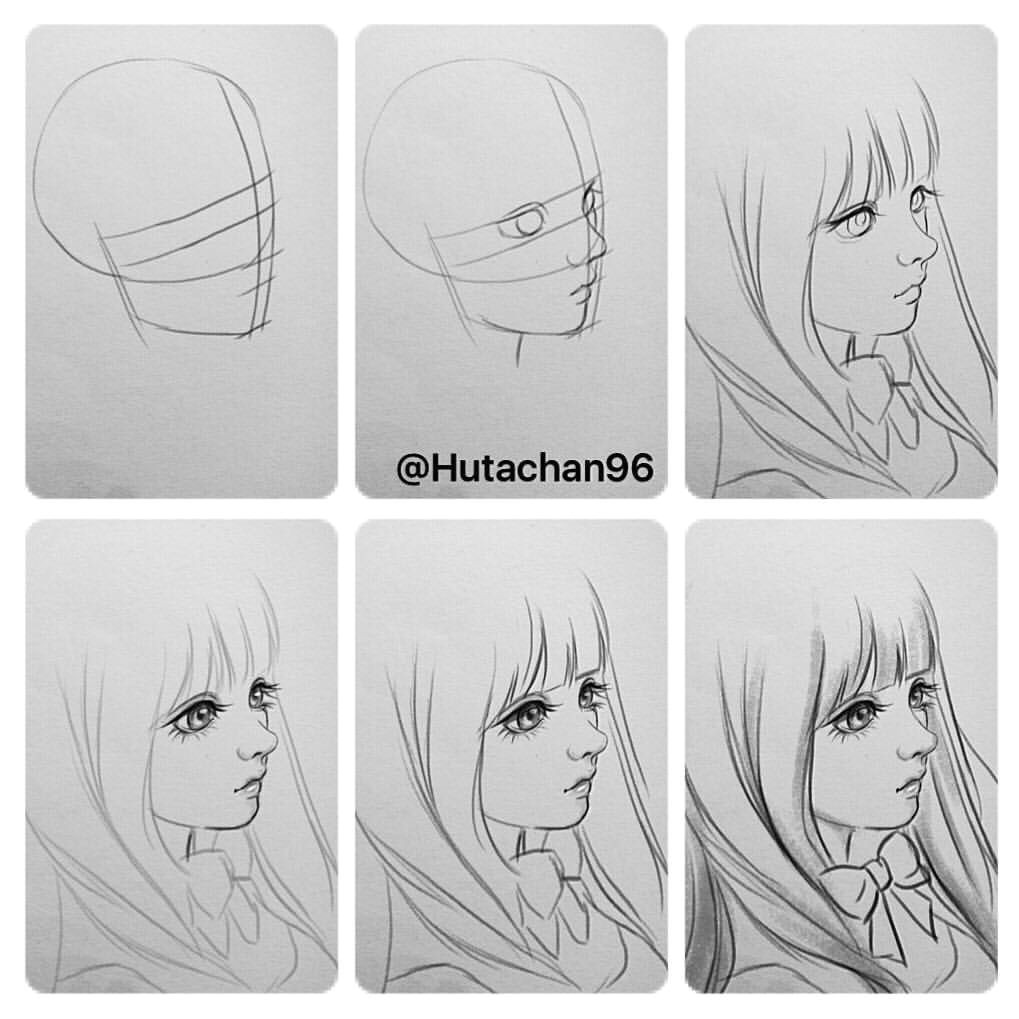 Semi Realistic Anime Drawings Pin by Bleujaey On Sketching Sketches Drawing Techniques