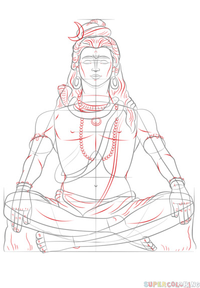 Shiva Drawing Images Easy How to Draw Lord Shiva Step by Step Drawing Tutorials for