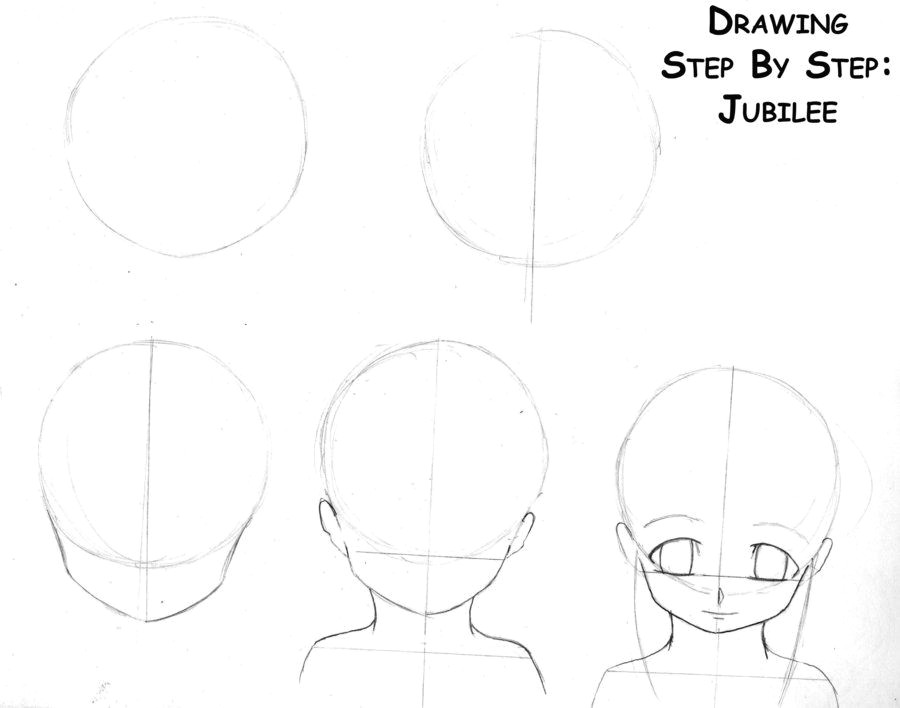 Steps How to Draw Anime Characters Anime Step by Step Drawing Head Drawing Anime Steps Page 1