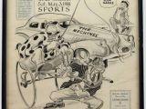 1920s Cartoon Drawing Willard Mullin original Sports Drawing On Sports Cartoon