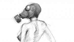 2.0 Drawing Easy Easy Weird Drawings Gas Mask Michaelbanak Nye Blacklightparty