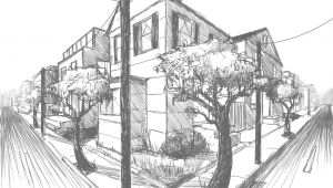 2 Point Perspective Drawings Easy Drawing 2 Point Perspective
