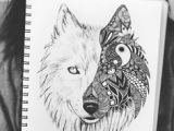 2 Wolves Drawing 20 Best Two Wolves Tattoo Images Wolf Drawings Drawings Tattoos