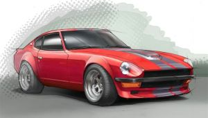 240z Drawing A Rendering Of A 1977 Datsun 240z Just for Fun I Ve Always Loved
