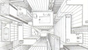 3d Y Drawing Directly Overhead Birds Eye View Perspective Drawing 6th Grade