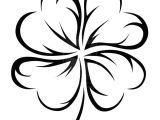 4 Leaf Clover Drawing Easy An Art Graphic Of Four Leaf Clover Coloring Page Coloring Clover