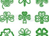 4 Leaf Clover Drawing Easy Collection Of Celtic Knot Shamrocks Including Three and Four Leaf