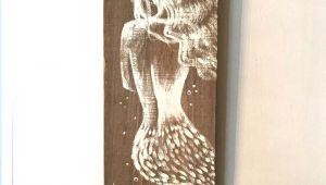 5 Favorite Things Drawing Reclaimed Florida Wood Amazing Hand Painted Mermaid On Distressed