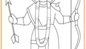 A Easy Drawing On Diwali Rama Colouring Page Diwali Diwali Story Diwali Diwali Craft