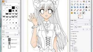 A Program for Drawing Anime Gimp Coloring Anime Drawings Skin Shadows Created with Fuzzy