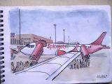 Airplane Easy Drawing Aeroplane Sketchbook Watercolor Aviation Art Plane
