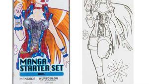 Anime Drawing Starter Kit Japanisches Manga 12 Stifte Geschenk Set Girl Amazon De Kuche