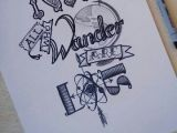 B Drawing Board Not All who Wander are Lost Drawing Typography Instagram Quote