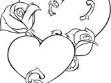 Black Line Drawing Of A Heart Coloring Pages Of Roses and Hearts New Vases Flower Vase Coloring
