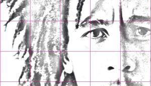 Bob Marley Drawing Easy How to Draw A Bob Marley Portrait Using A Grid Drawing In