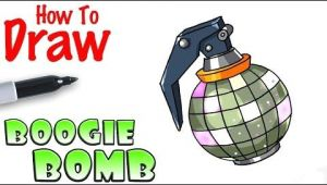 Bomb Drawing Easy How too Draw fortnite Boogie Bomb 3d Drawing Tutorial