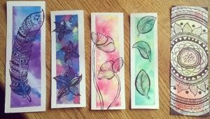 Bookmark Drawing Ideas Weitere Lesezeichen Bookmarks Watercolor Drawing
