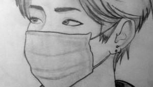 Bts V Drawing Easy Bts Bangtanboys Love Bts V Kimtaehyung Drawing Bts