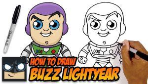 Buzz Lightyear Easy Drawing How to Draw Buzz Lightyear toy Story Easy Cartoon