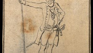C Drawing Pixels File A soldier In the Prussian Army Drawing C 1794 Wellcome
