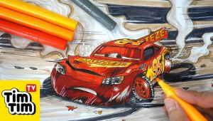 Cars 3 Drawing Easy How to Draw Cars 3 Lightning Mcqueen Crashed Badly Injured Easy Step