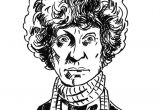 Cartoon Drawing Doctor 4th Doctor who tom Baker original Ink Drawing Illustration Pollard