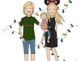 Cartoon Drawing Family Portrait Reserved for Magda Family Portrait In 2019 Art Pinterest