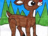 Cartoon Drawing Guide Pdf Draw Rudolph Pinterest Pdf Tutorials and Winter Art