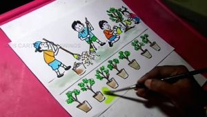 Cartoon Drawing Karne Wala How to Draw Clean India Green India Drawing for Kids Youtube